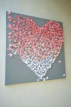Ombre dispersing butterfly canvas