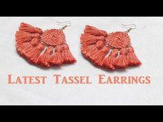 Earrings Diy Thread tassel earrings//How to make tassel earrings at home//DIY//Tutorial//Creation Tiny Stud Earrings, Rose Gold Earrings, Unique Earrings, Diy Earrings, Silver Hoop Earrings, Tassel Earrings, How To Make Tassels, Bestie Gifts, Tourmaline Earrings
