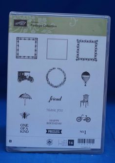 Stampin' Up! Hostess Postage Collection Friend Birthday  Set of 16 Stamps NIB #StampinUp