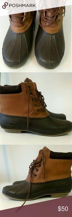 Tommy Hilfiger duck boots Tommy Hilfiger duck boots worn twice Tommy Hilfiger Shoes Boots