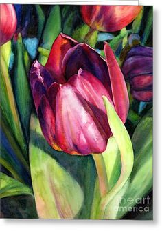 Tulip Delight Greeting Card by Hailey E Herrera