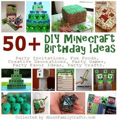 50+ DIY Minecraft Birthday Party Ideas