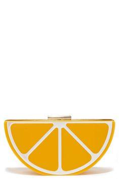 Pucker Up Yellow Lemon Clutch at Lulus.com!