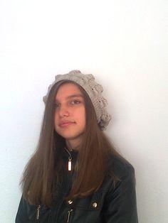 Milky Brown Women Beanie-Women Hat-Hand Knit Winter Hat-Slouchy Beanie-Slouchy Hat-Women Accessories by knittingshop on Etsy