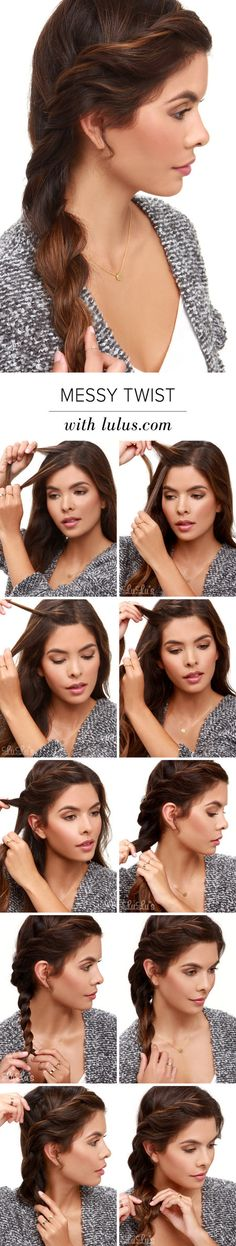 How-To: Messy Twist Hair Tutorial - Amy Carhartt