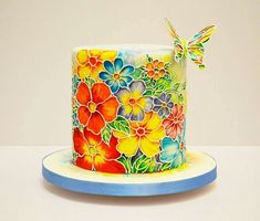 Wow! #cake #colourful #butterfly