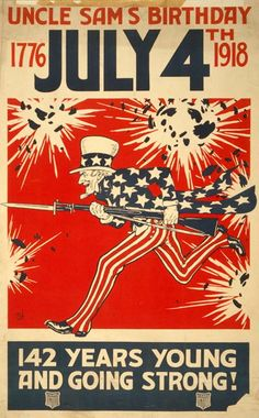 Propaganda From World War 1 | Vintage World War 1 Poster: This is a picture featuring Uncle Sams ...