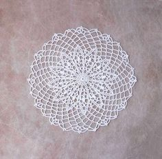 White Decorative Crochet Lace Doily Table by NutmegCottage on Etsy