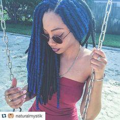 #Repost from @naturalmystik  Bobbi Boss BOMBA Dreadlocks @bobbiboss_hair Hair by @idlelocs