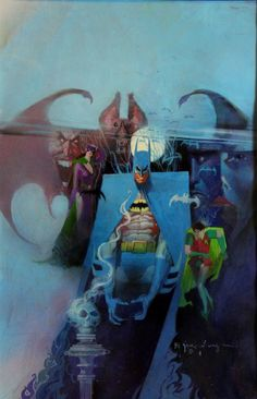 Bill Sienkiewicz Batman #400 Cover Comic Art