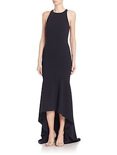 Theia - Solid High-Low Gown