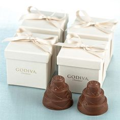 chocolate wedding cake favors: gullu