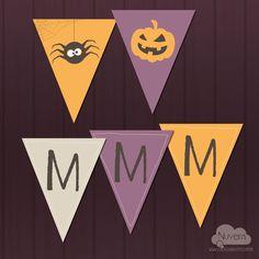 Bandeirola Halloween para imprimir na lojadanuvem.com