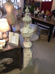 """Fiberstone Finials 55 1/2"""" x 10"""" round. $298 each! Very impressive pieces w/ great finish to make a statement in your home/business!!"""