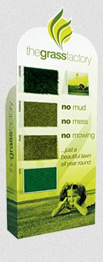 Vertical display stand for artificial grass dealers Grass, Display, Floor Space, Billboard, Grasses, Herb