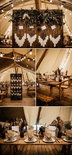 Tipi reception goodness How fun is this dream catcher seating chart! Rustic Seating Charts, Reception Seating Chart, Wedding Reception Seating, Seating Chart Wedding, Wedding Table, Cowgirl Wedding, Tipi Wedding, Wedding Couples, Wedding Signs