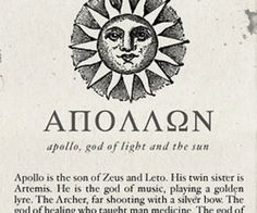 greek quotes mythology | Apollo