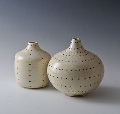 Dotted Bottle by Marilee Schumann: Ceramic Bottle available at www.artfulhome.com