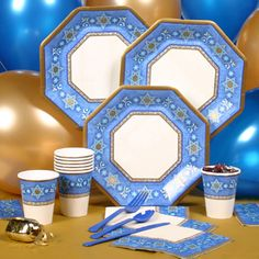 Hanukkah Party Ware...the colors look much better in real life