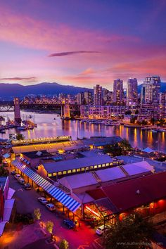 Granville's sunset by Mathieu Dupuis / 500px Granville Island, Vancouver, BC, Canada