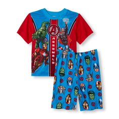 Baby Boys Boys Short Sleeve Avengers Tee And Short Pajama Set - Multi T-Shirt - The Children's Place