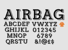 Airbag free font