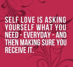 Been asking myself every morning what it is that I need...allowing myself to do things for me and not just for others. I'm all about self love these days... My advice: give yourself some lovin! Xoxo @LunaKrick