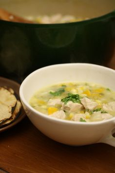 Green Chili Chicken! Great soup to warm you up! | big girls small kitchen