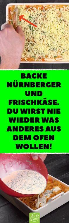 Backe Nürnberger und Frischkäse. Du wirst nie wieder was anderes aus dem Ofen wollen! Ein Auflauf der besonderen Art mit Nürnberger Würstchen, Frischkäse und Kohl #rezepte #auflauf #wurst #bratwurst #kohl #kartoffel