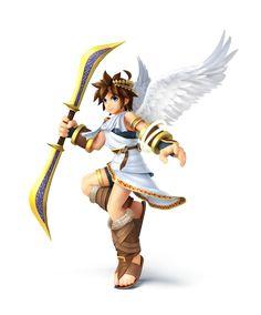 para Nintendo y Wii U: Pit Super Smash Bros Brawl, Super Smash Flash 2, Nintendo Characters, Video Game Characters, Nintendo 3ds, Wii U, Kid Icarus Uprising, Step By Step Drawing, Videogames