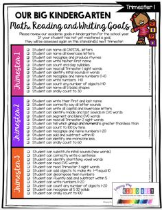 KINDERGARTEN Report Card and Assessment Kit - FREE chart to track academic and behavior goals