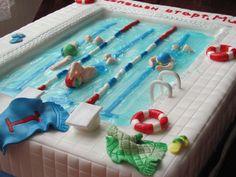 My First ''swimming Pool'' Cake