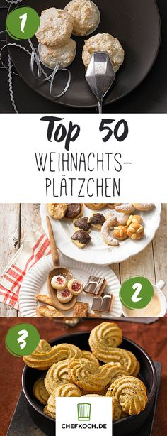 Top 50 Christmas Cookies: Vanillekipferl Zimtsterne & Co. The post Top 50 Christmas Cookies: Vanillekipferl Zimtsterne & Co appeared first on Dessert Park. No Bake Desserts, Easy Desserts, Dessert Recipes, Best Christmas Cookies, Christmas Baking, Christmas Recipes, No Bake Cookies, Cookies Et Biscuits, Baking Recipes