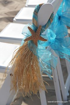 some item are made by friends and family and we are happy to set up these item too.  www.beachbrideguides.com