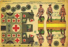 Recortable Soldatini Di Carta Guerra Civil Española Ambulancia Croja CA 1936   eBay