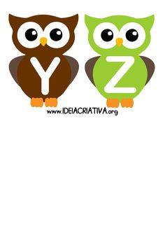 Alfabeto Letra Bastão Corujinhas Owl Classroom, Infant Classroom, Classroom Rules, Classroom Themes, Alphabet Games, Alphabet And Numbers, Kids Learning Activities, Alphabet Activities, Stencils For Kids