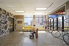 Bike lobby at Yelp.