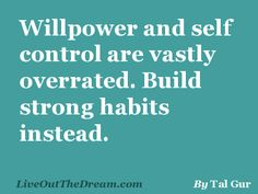 Thoughts on Life - Willpower