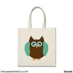 Cute animated Owl Tote Bag
