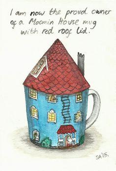 Random Thoughts of a Bored Artist: 2.0 Day 101 - Moomin House Mug
