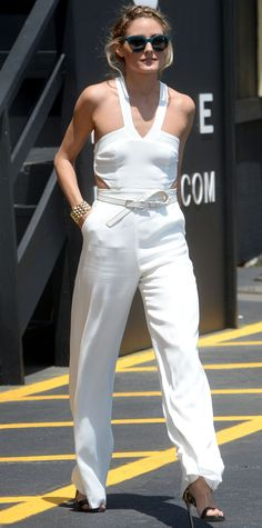 70d699ebaf9 Olivia Palermo from Stars in Summer White Also in the covetable jumpsuit  arena