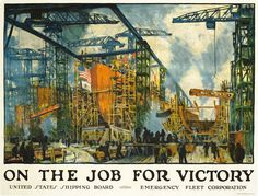 Lie, Jonas poster: On the Job for Victory, 1918