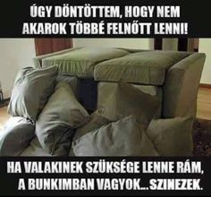 Never, ever grow up. Build the most awesome couch fort ever and hide away from the world. Haha Funny, Hilarious, Lol, Funny Stuff, Funny Things, Funny Quotes, Funny Memes, I Love To Laugh, Parenting Humor