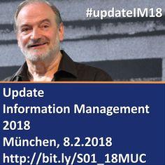 Update Information Management 2018 - Jahresauftaktseminar mit Dr. Ulrich Kampffmeyer am 8.2.2018 in München #RecordsManagement  #UpdateIM18 #ECM #EIM #BPM #ContentServices #Workplace #KI   https://www.xing-events.com/1883755-3f1c3677.html