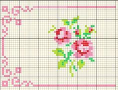 Discover thousands of images about Cross stitch floral towel İnstagram:madebyigneiplik Small Cross Stitch, Cross Stitch Borders, Cross Stitch Rose, Cross Stitch Flowers, Cross Stitch Charts, Cross Stitch Designs, Cross Stitching, Cross Stitch Embroidery, Stitch Crochet