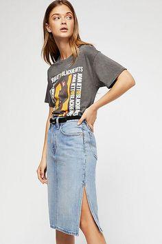 Levi's Side Slit Denim Skirt #ad