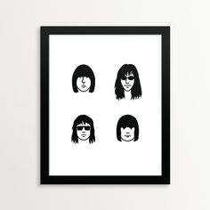 Faces of the Ramones Poster Print