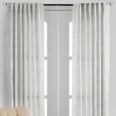 Luxe Panels - White/Silver from Z Gallerie Silver Curtains, White Curtains, Office Curtains, Girl Bedroom Walls, White Bedroom, Modern Bedroom Decor, Room Decor Bedroom, Bedroom Ideas, Modern Family Rooms