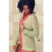Beautiful lightweight sweater for spring or early fall. I'd make one in warm fall color, like rust or brown and one in a spring color. It's amazing what you can do with crochet. Yaddo Cardigan Pattern $2.75 | InterweaveStore.com