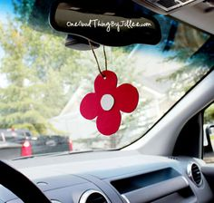 Make Your Own Car Air Freshener In Minutes!  You could even make a shape for each holiday or even a favorite sports team